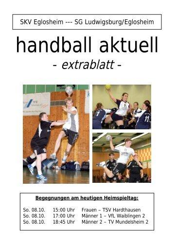 handball aktuell - bei der SG Ludwigsburg/Eglosheim
