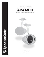 AIM MDU Manual - SpeakerCraft