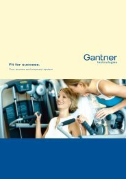 Gantner brochure fitness clubs - Perfectgym