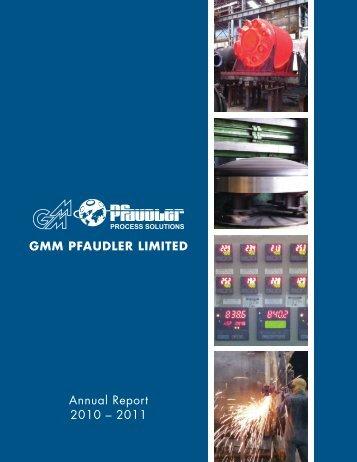 Financial Year - GMM Pfaudler Ltd