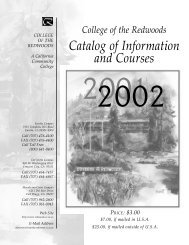 CR College Catalog 2001-2002 PDF version - College of the ...