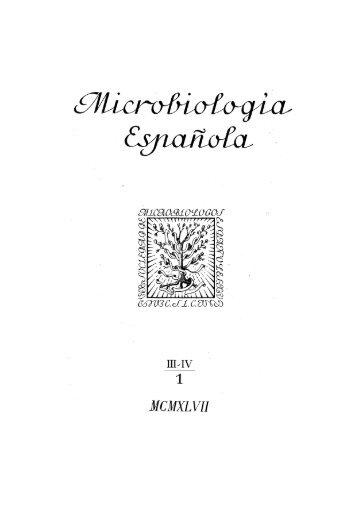 Vol. 1 núm. 3 y 4 - Sociedad Española de Microbiología