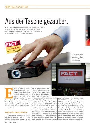 Aus der Tasche gezaubert - FACTS Verlag GmbH