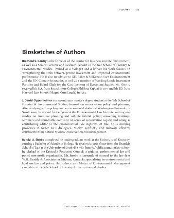 Biosketches - Yale University