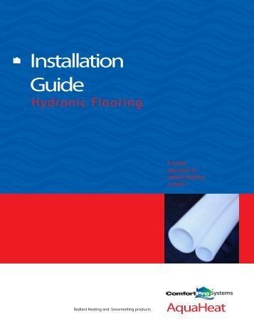 AQH0031 AquaHeat Installation Guide Hydronic Flooring