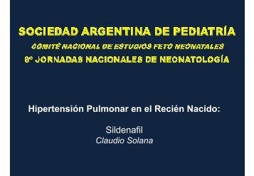 Hipertensión Pulmonar en el Recién Nacido: Sildenafil