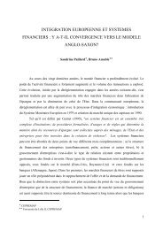 integration europeenne et systemes financiers - Jourdan.ens.fr