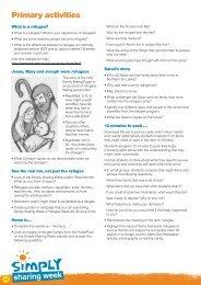 Primary activities - Caritas Australia