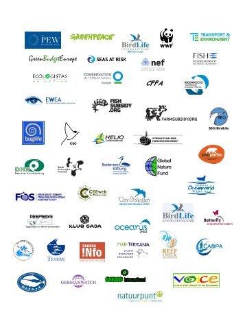 Logos from all undersigned NGOs - Fisheries Secretariat