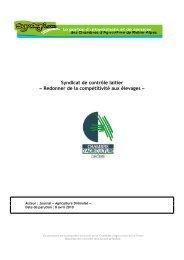 Syndicat de contrôle laitier - Chambres d'Agriculture de Rhône-Alpes