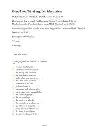 Am eingang fehlt ein blatt mit 140 verszeilen - Mittelhochdeutsches ...