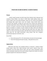 FRAKTURA OS METACARPUS / OS METATARSUS Causa Gejala ...