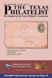 Park Cities Stamps - Texas Philatelic Association