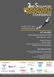 INNOVATION PRODUCTIVITY - Singapore Manufacturing Federation