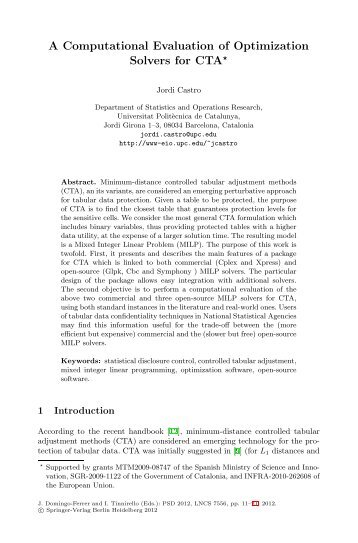 A Computational Evaluation of Optimization Solvers for CTA