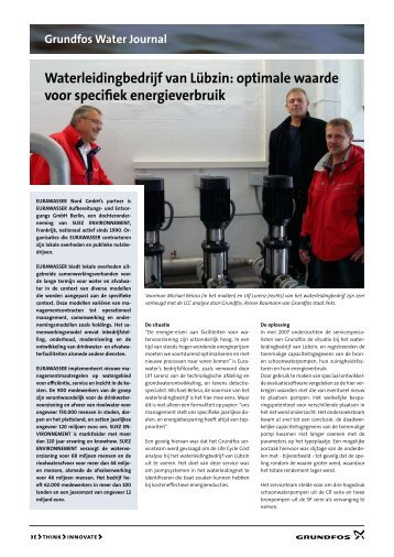 Waterleidingbedrijf van Lübzin - Grundfos E-Newsletter