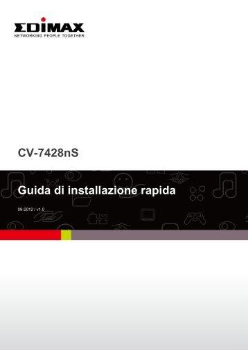 CV-7428nS Guida di installazione rapida - Edimax