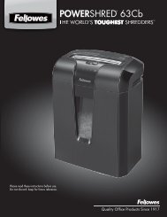 POWERSHRED® 63Cb - Fellowes