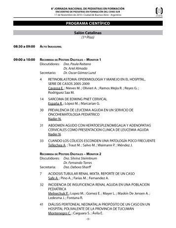 La 8° Jornada Nacional de Pediatras en Formación - Sociedad ...