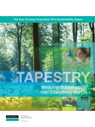 2011 Sustainability Report - Dow Corning