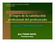 El logro de la satisfacción profesional del profesorado El logro de la ...