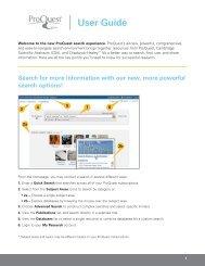 ProQuest - User Guide New Platform | (PDF) - ProQuest.com