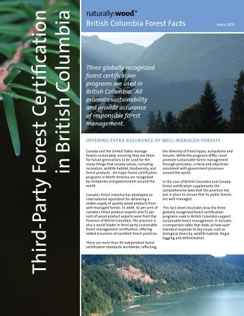 Third-Party Forest Certification in British Columbia - Naturally:wood