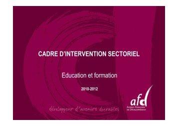 Education - Agence Française de Développement