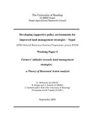 This working paper is an output from research project ... - NRSP
