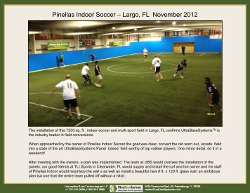 Indoor Mini Pitch Soccer Install - Ultra Base Systems