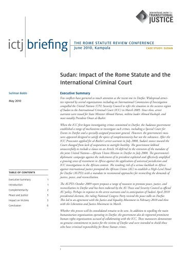 Sudan - International Center for Transitional Justice