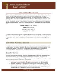 First Year Law School Guide - Pepperdine University School of Law