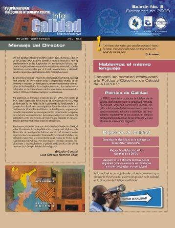 Boletin Infocalidad 8 - Policía Nacional de Colombia.