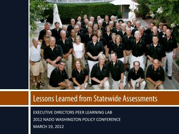 Lessons Learned from Statewide Assessments - NADO.org