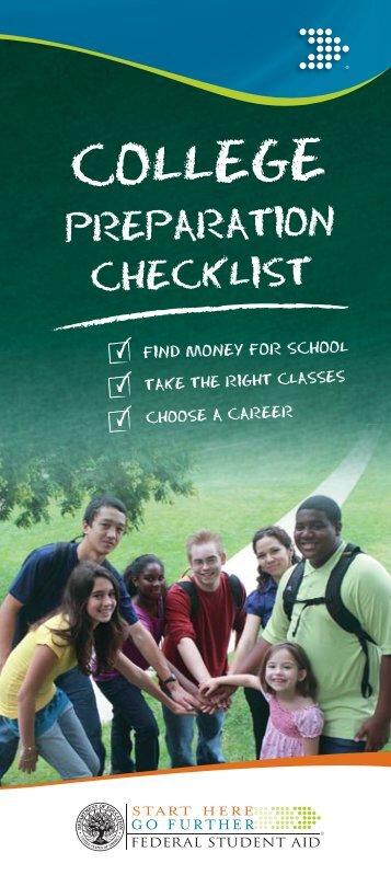 College Prep Checklist