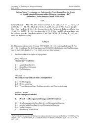 Entwurf einer Verordnung zur Änderung der RöV vom 31.10.2001