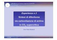 Esperienza n.3 Sintesi di difenilurea via carbonilazione di anilina in ...