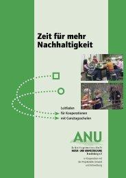Zeit für mehr Nachhaltigkeit - ANU Brandenburg