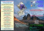 Depliant Corso di Formazione Alla Scoperta dei Monti Pallidi 2011