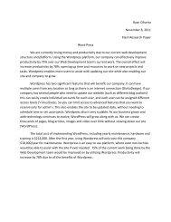 WordPress Paper - Temple Fox MIS