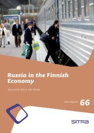 Russia in the Finnish Economy - Sitra