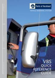VBS Quick Reference Guide - Ports of Auckland