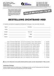 BESTELLUNG DICHTBAND HBD - Dichtband24.de