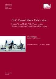 CNC Based Metal Fabrication - International Specialised Skills ...