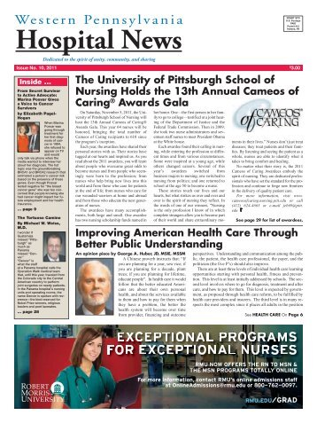 Hospital News, 10-1-2011 - Western Pennsylvania Healthcare News