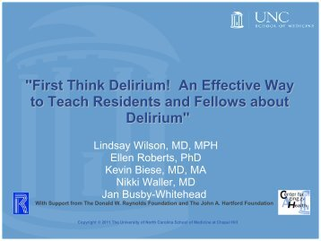 """""""First Think Delirium! An Effective Way to Teach Residents and ..."""