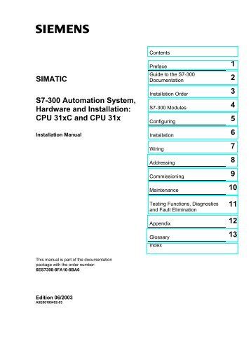 SIMATIC S7-300 Automation System, Hardware and ... - Induteq