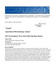 2011 Francophone West Africa Biotechnology Report Agricultural ...