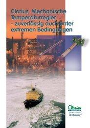 Clorius Mechanische Temperaturregler ... - Clorius Controls