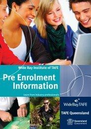 Pre Enrolment Information - TAFE Open Learning
